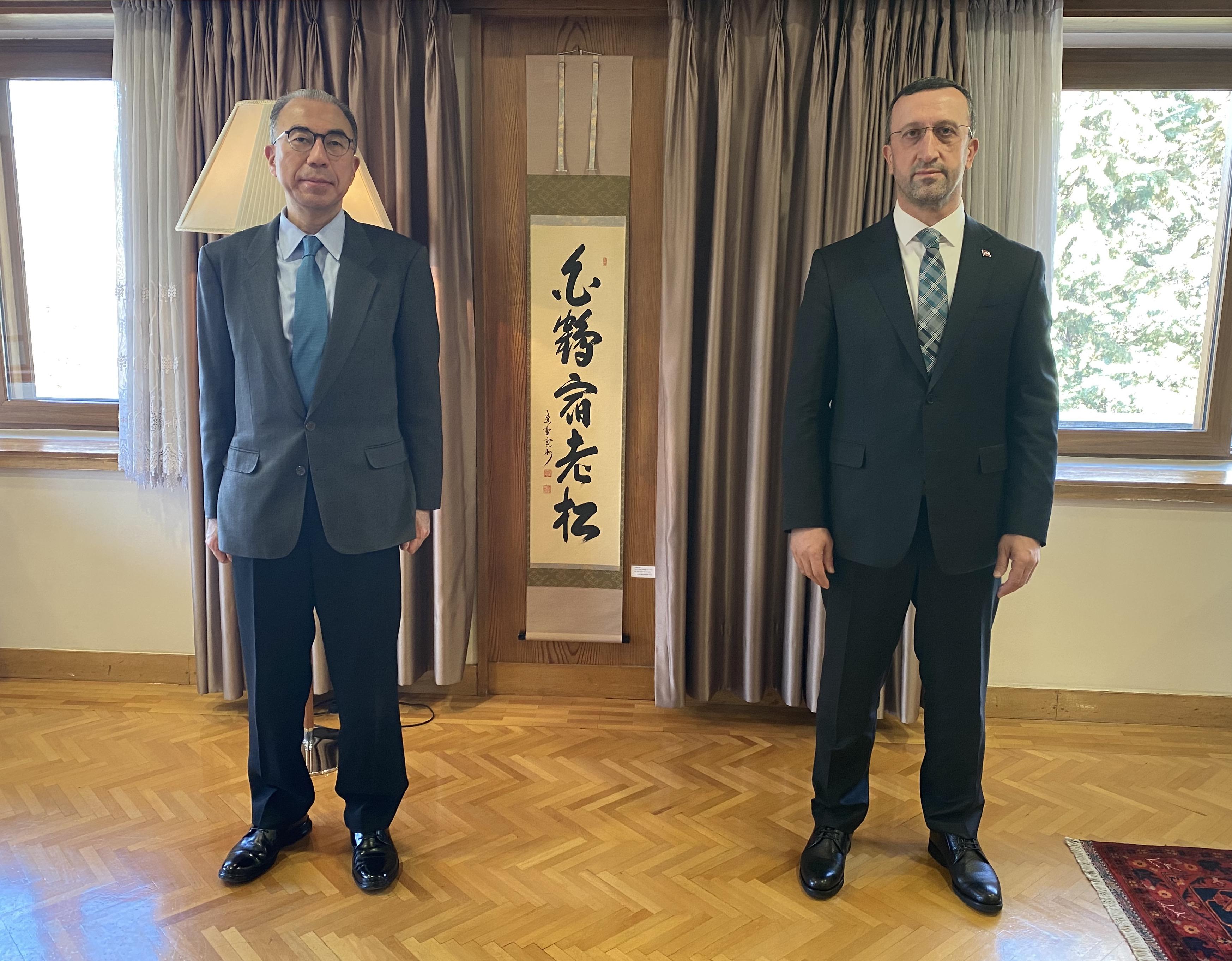 GENEL MÜDÜR BÜYÜK, JAPONYA'NIN ANKARA BÜYÜKELÇİSİ İLE GÖRÜŞTÜ